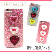 【MERRYGADGET】3D three heart iPhoneケース [iPhone8/7/6対応] (全3色)
