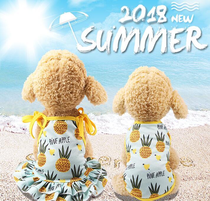 犬服 3色2タイプ カップルお揃い 可愛い チョッキ/ワンピース ベスト 夏 ペット服