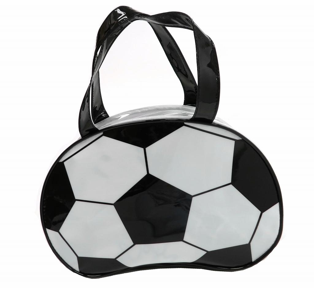 【即納】ビニールボストンバッグ サッカーボール【プールバッグ】【キッズ】【子供用】