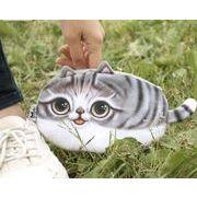 レディース 雑貨 コインバッグ お財布 ネコ 動物 面白い 可愛い ガーリー