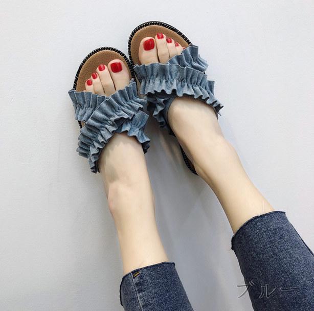 初回送料無料 2018 可愛い ぺたんこ 靴 ビーチ サンダル 大人気 全3色 vxyow-1805ayo293 夏 新作
