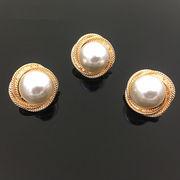 おしゃれデコパーツ 真珠パールデコパーツ - 手芸 クラフト 生地 材料   全1色