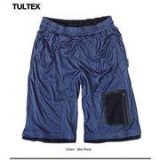 吸汗速乾ひんやり冷感でサラッとした肌触り★TULTEX 圧着メッシュポケット付きスムスドライショートパンツ