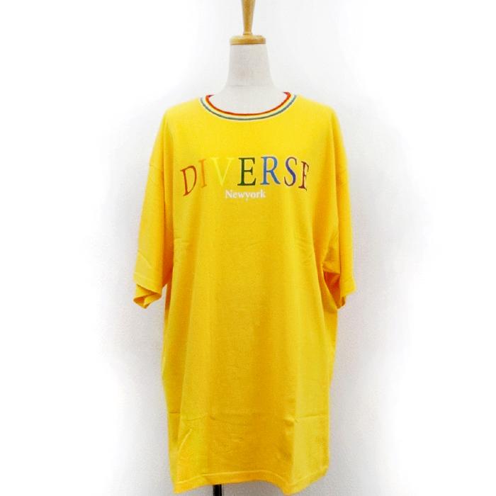 【2018春夏新作】20/-OE天竺 BIG-Tシャツ(レインボーロゴ)