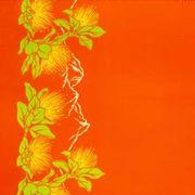 ハワイアン生地 レフアボーダー オレンジ