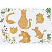 【オリジナルデザイン】猫雑貨 フクロウ雑貨 極薄メタルパーツ 銅99%高品質