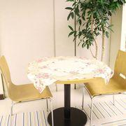 テーブルクロス 85×85cmローズ柄カットワーク刺繍アイボリー
