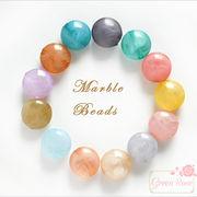 マーブルカラー♪ラウンド♪17mm★アクリルビーズ/ピアス/イヤリング/アクセサリー/材料/beads506