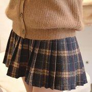 ミニスカート チェック柄スカート 学生 プリーツスカート