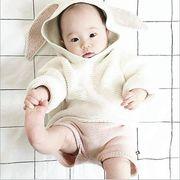 秋 新しいスタイル  ベビーニット セーター 男の子 女の子 可愛いウサギ耳 長袖トップス