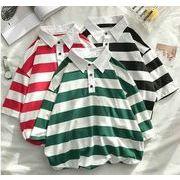 夏新作メンズTシャツ 半袖トップス おしゃれ カジュアル♪レッド/グリーン/ブラック3色
