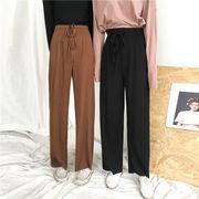 パンツ 女性服 夏 新しいデザイン 韓国風 ファッション ルース 何でも似合う フリル