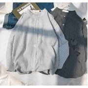秋冬新作メンズワイシャツ トップス おしゃれ シンプル♪グレー/ホワイト2色