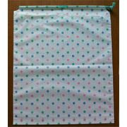 【激安品】ポリ巾着袋(1本紐) カラフルドット(幅350mm×高さ430mm×底マチ60mm)