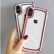 送料0★9色 縁どり シンプル クリア iPhone x iPhoneケース