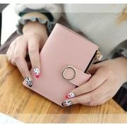二つ折り財布 レディース ミニ財布 サイフ お札入れ 小銭入れあり シンプル コンパクト短財布