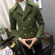 メンズ トレンチコート ジャケット アウターチェスターコート 秋冬用 ビジネス 紳士 通勤 ラシャコート