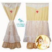 ディズニー美女と野獣 「ドレス カーテン ~ ベル ~ 」120cm丈 コスモ 目隠し