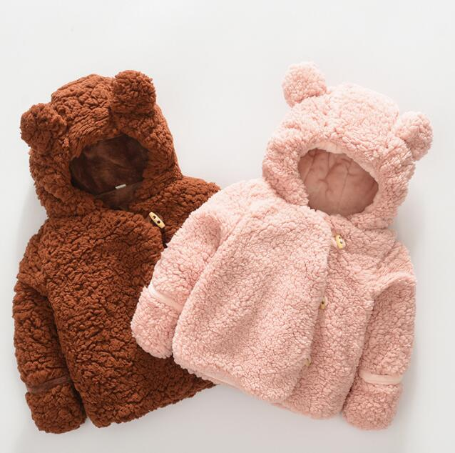【特価】子供コート 冬 厚手 裏起毛 男の子 女の子 70-100CM 防寒 2色