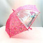 【雨傘】【ジュニア用】1駒ビニールマイメロディキス柄ジャンプ傘