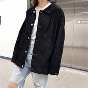 【即納】デニムジャケット Gジャン レディース 長袖 aw18-039 2018秋冬新作