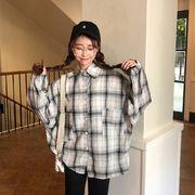 秋冬新商品730029 大きいサイズ 韓国 レディース ファッション ワンピース シャツ