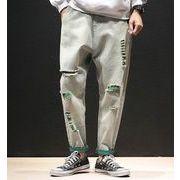 秋冬新作メンズジーンズ パンツ大きいサイズ おしゃれ♪ブルー/グリーン2色