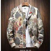 秋冬新作メンズコート ジャケット 花柄 トップス大きいサイズ おしゃれ