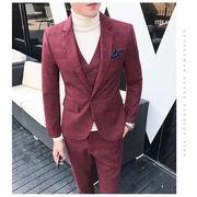fe909108199bc 新品 韓国スタイル 2点セットベスト+パンツ メンズスーツ ビジネス 結婚式 通勤 花婿