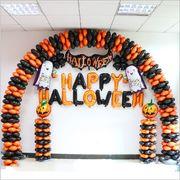 ハロウィン 風船 スーツ お化けの日 アルファベット風船 パーティー かぼちゃのコウモリ 風船