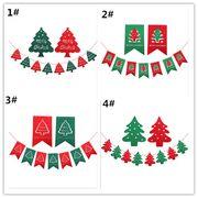 クリスマス 装飾をする 花を引く 三角旗 旗を引く バー パーティー  小鹿 クリスマスツリー