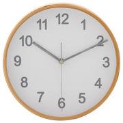 掛時計 プライウッド 直径22cm ホワイト