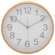 掛時計 プライウッド 直径28cm ホワイト