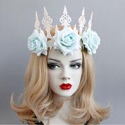 コスプレ 髪飾り 女王 バラ仮面舞踏会 ハロウィン 仮装パーティ 宴会