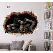 ハロウィン 壁に貼る 寝室の居間に壁の壁が飾られている 防水