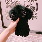 秋冬新品 レディースファッション 手袋 グローブ リボン 蝶結び タッチパネル対応 防寒 カワイイ