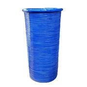 【イタリア製】 陶器かさ立て ブルー(縞模様) (KPO/96-ST57CB)