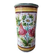 【イタリア製】 陶器かさ立て  ストレート 花柄 (KPO/96-794)