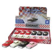 <ミニカー>KiNSMART ミニカー 1:43 キャデラック シリーズ62 1953 4色アソート No.201-664