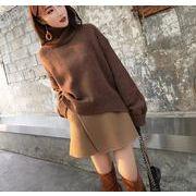秋冬取り入れたい!ニットセーター+スカート★セットアップ