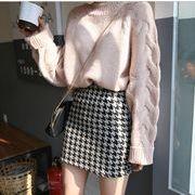 セットアップ★単品★ニットセーター+千鳥柄スカート★タイトスカート
