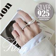 sflhw2183◆5000以上【送料無料】◆シルバー925リング◆開口指輪 シンプル