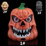 ハロウィン 装飾品 鬼節の恐怖 かぼちゃの灯り 音声制御発光 電動カボチャの頭