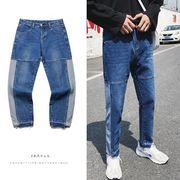 秋冬新作メンズジーンズ パンツ シンプル おしゃれ♪ブルー/ブラック2色