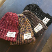 ☆15%OFF☆【ナチュラルで可愛らしい】軽くて着心地の良いふんわり素材♪ミックスカラー編みニット帽