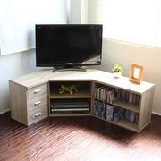 ◎テレビ台 コーナー 3点セット 木製  オーク  SZ-TS3OAK