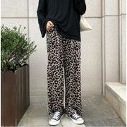 新作レディースボトムス 豹柄 ヒョウ柄 ロング丈ズボン パンツ 脚長効果  韓国ファッション 人気 流行