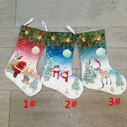 クリスマス 装飾品 クリスマスツリー 掛け物 荷を置く 印刷する クリスマスソックス