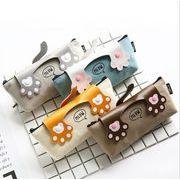 猫の爪柄 ペンケース 筆箱 筆入れ ペンポーチ ファスナー付き 文房具