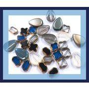 【アンティーク調】ガラス製デコパーツ(アンティークゴールドライン付き) シズクパーツ 12円均一